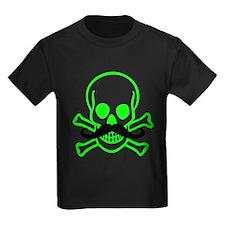 Green Mustache Skull T