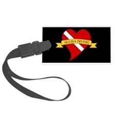 Love Scuba Diving Heart Luggage Tag