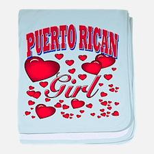 Puerto Rican Girl baby blanket