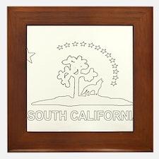 South California Flag Framed Tile