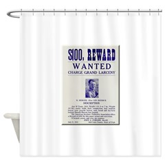 Leo Botrick Wanted Shower Curtain