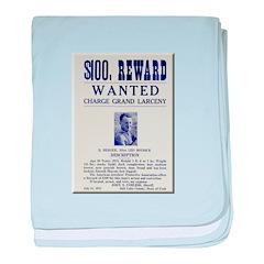 Leo Botrick Wanted baby blanket