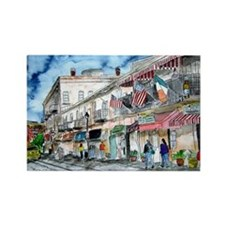 savannah river street painting Rectangle Magnet