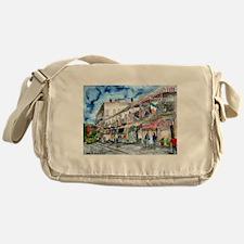 savannah river street painting Messenger Bag