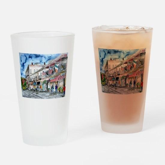 savannah river street painting Drinking Glass