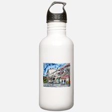savannah river street painting Water Bottle