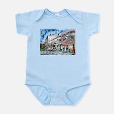 savannah river street painting Infant Bodysuit