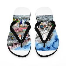 savannah river street painting Flip Flops