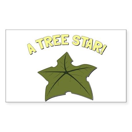 A Tree Star! Sticker (Rectangle)