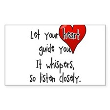 Let Your Heart Guide You Decal