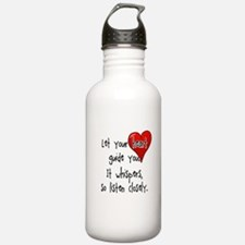 Let Your Heart Guide You Water Bottle