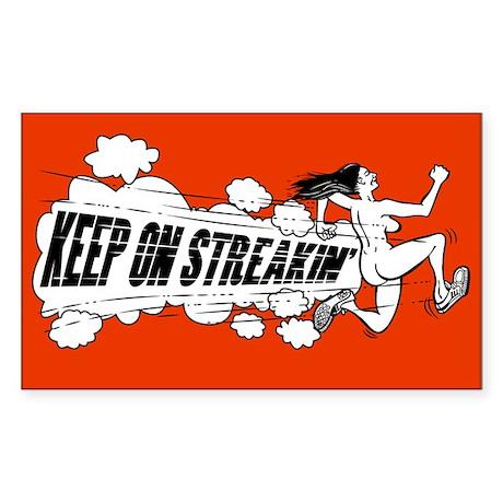 Keep on Streakin Sticker (Rectangle)