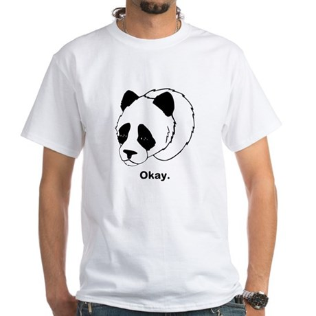 Okay Panda White T-Shirt