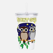 NIGHT-OWL-2.png Acrylic Double-wall Tumbler