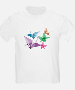 Origami composition lilies and cranes T-Shirt