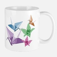 Origami composition lilies and cranes Mug
