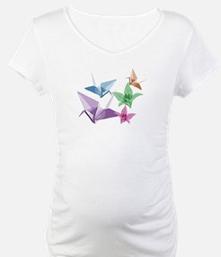 Origami composition lilies and cranes Shirt