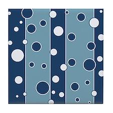 Retro Style Blue Mod Tile Coaster