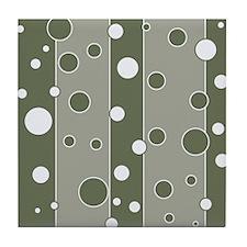 Retro Style Mod Green Tile Coaster
