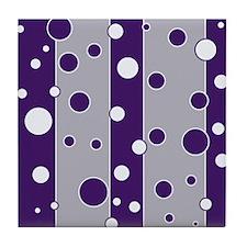 Retro Style Purple Mod Tile Coaster