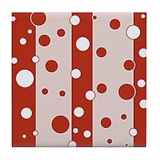 Retro Style Red Mod Tile Coaster