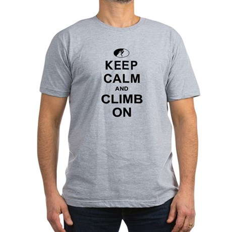 Keep Calm and Climb On Men's Fitted T-Shirt (dark)