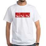 Red Sequence: White T-Shirt