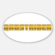 Ghostrider Oval Decal