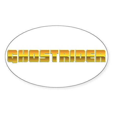 Ghostrider Oval Sticker