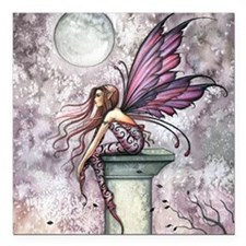 "The Lookout Fairy Fantas Square Car Magnet 3"" x 3"""