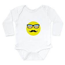 Smiley Face Sunglasses Long Sleeve Infant Bodysuit