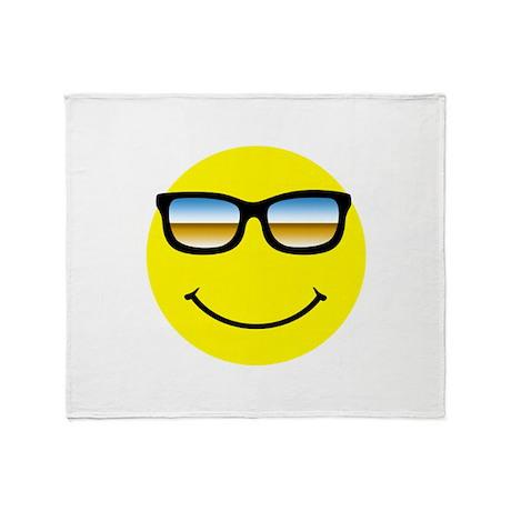 Smiley Face Glasses Throw Blanket