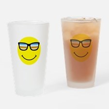 Smiley Face Glasses Drinking Glass