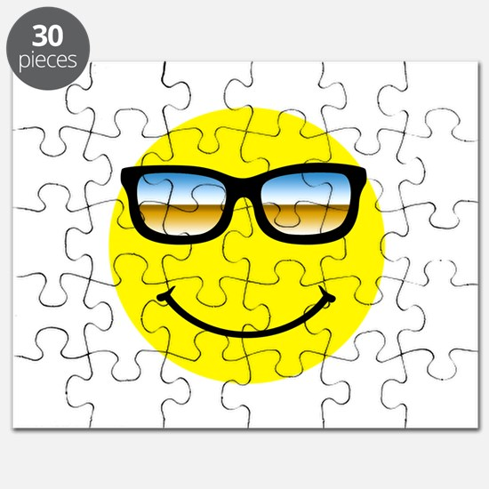 Smiley Face Glasses Puzzle