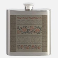 Ukrainian Embroidery Flask