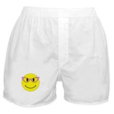Smiley Face Pink Glasses Boxer Shorts