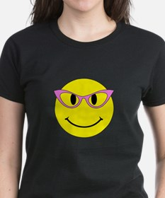 Smiley Face Pink Glasses Tee