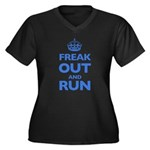 Keep Calm Women's Plus Size V-Neck Dark T-Shirt
