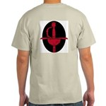 Red and Black: Ash Grey T-Shirt