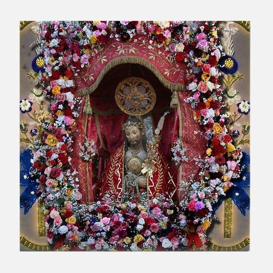 Santo Cristo Tile Coaster