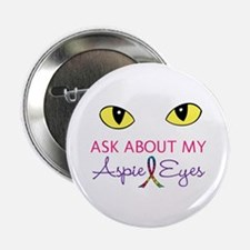 "Aspie Eyes 2.25"" Button"