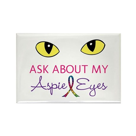 Aspie Eyes Rectangle Magnet (10 pack)