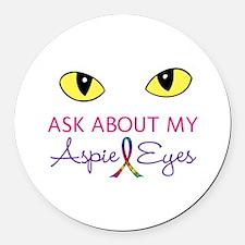 Aspie Eyes Round Car Magnet