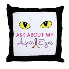 Aspie Eyes Throw Pillow