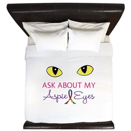 Aspie Eyes King Duvet