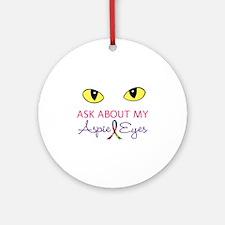 Aspie Eyes Ornament (Round)