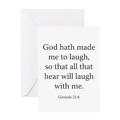 Genesis 21:6 Greeting Card