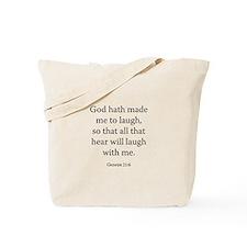 Genesis 21:6 Tote Bag