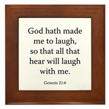 Genesis 21:6 Framed Tile