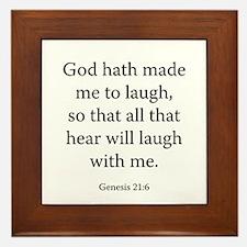 Genesis 21:6 Framed Tile